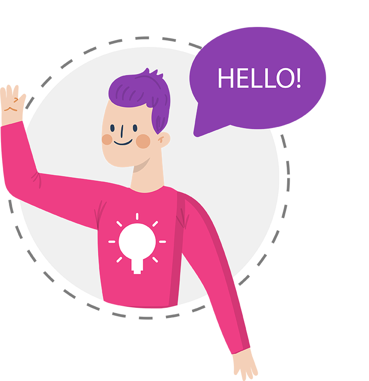 A picture saying hello to you from the contact page on Zealous Social